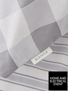 bianca-cottonsoft-bianca-grey-stripe-fitted-sheet