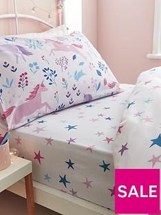 bianca-cottonsoft-woodland-unicorn-and-stars-cotton-fitted-sheet