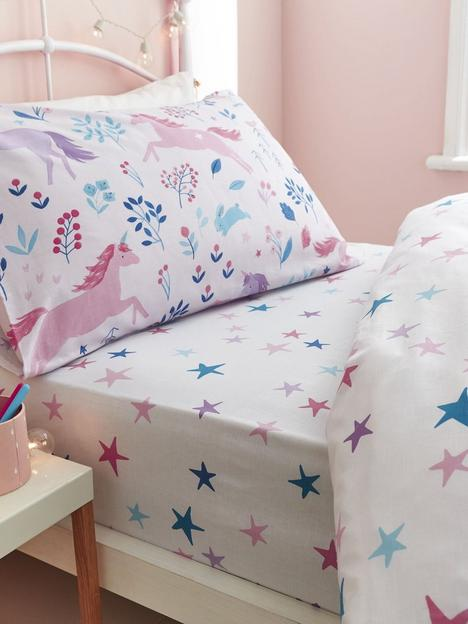 bianca-fine-linens-woodland-unicorn-and-stars-cotton-fitted-sheet