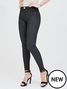 river-island-river-island-molly-mid-rise-coated-denim-jegging-black