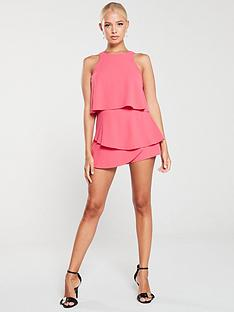 river-island-layered-playsuit-pink