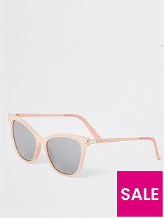 river-island-river-island-diamante-trim-sunglasses-light-pink