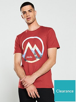 jack-jones-dany-print-crew-neck-t-shirt-red
