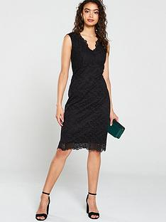 wallis-lace-scallop-dress
