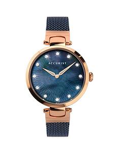 accurist-accurist-blue-mother-of-pearl-crystal-set-dial-blue-stainless-steel-mesh-strap-ladies-watch