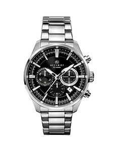 accurist-black-chronograph-dial-stainless-steel-bracelet-mens-watch