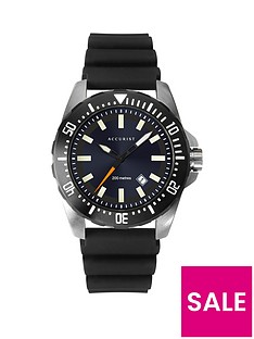 accurist-sunray-and-silver-detail-date-dial-black-silicone-strap-mens-watch