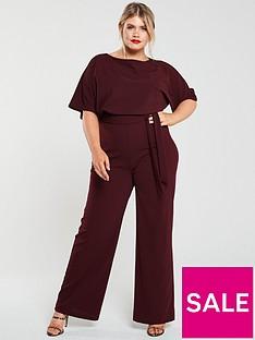 ax-paris-curve-tie-waist-wide-leg-jumpsuit-plum