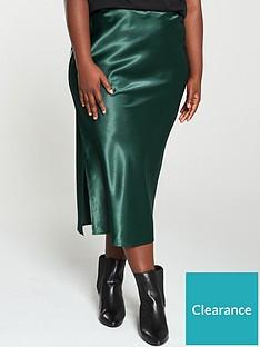 ax-paris-curve-midi-skirt-teal