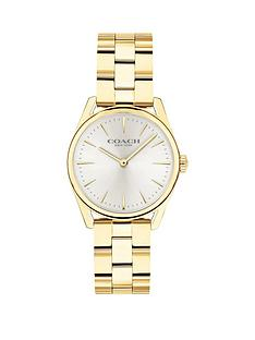 coach-coach-silver-sunray-dial-gold-stainless-steel-bracelet-ladies-watch