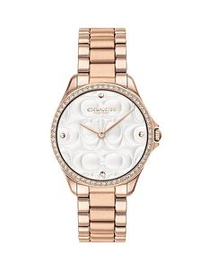 coach-coach-silver-textured-and-crystal-set-dial-rose-gold-stainless-steel-bracelet-ladies-watch