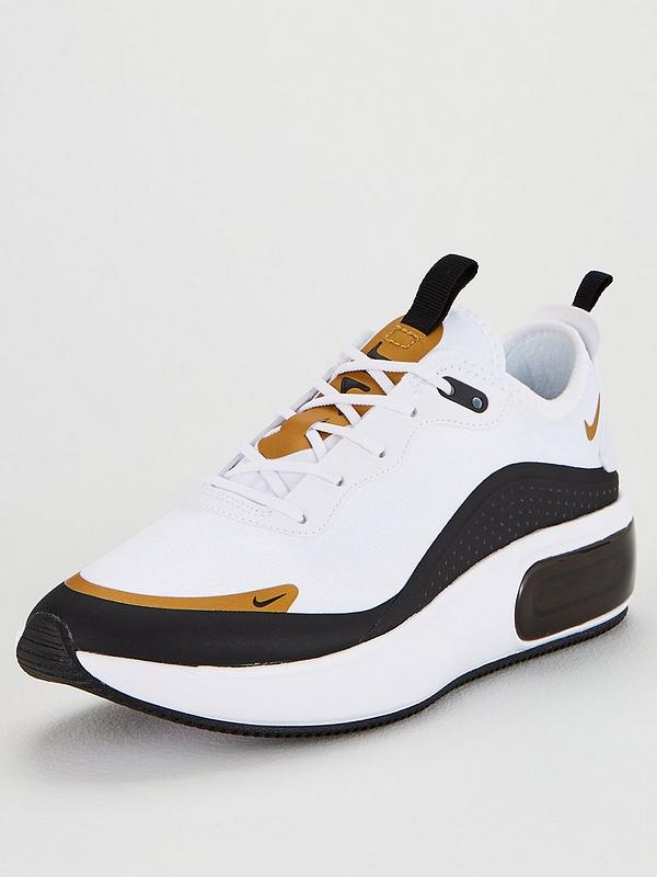 diferentemente el más nuevo marca popular Nike Air Max Dia - White/Black/Gold | littlewoodsireland.ie