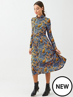 v-by-very-roll-neck-midi-dress-orange-floral