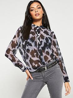 religion-hyperon-sheer-oversized-blouse