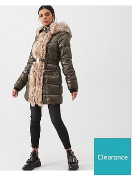 river-island-river-island-faux-fur-front-high-shine-padded-jacket-khaki