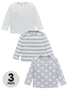 v-by-very-baby-unisex-3-pack-spotstripe-tops-grey