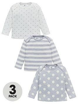 v-by-very-baby-unisex-3-pack-spotstripe-tops-grey