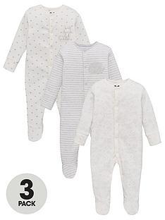 v-by-very-baby-unisex-3-pack-stripespotfox-sleepsuits-multi