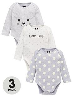v-by-very-baby-unisex-3-pack-bear-bodysuits-multi