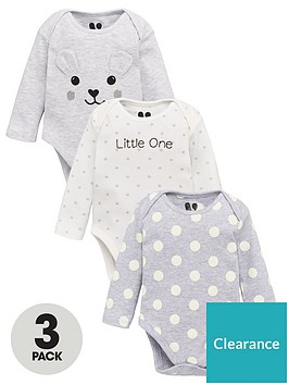 v-by-very-baby-unisex-3-pack-bear-bodysuits-multi