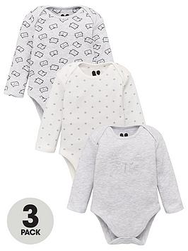 v-by-very-unisex-3-pack-cat-babygrows-multi