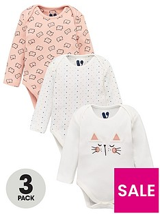 v-by-very-baby-girls-3-pack-cat-bodysuits-multi