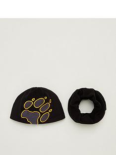 jack-wolfskin-kids-hat-amp-snood-set-black