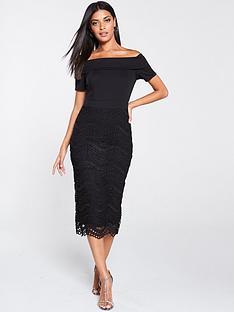 v-by-very-bardot-scuba-lace-pencil-dress-black
