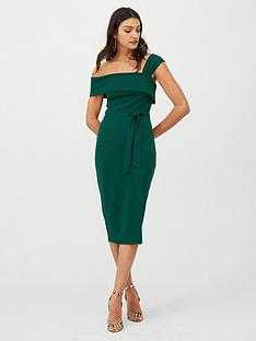 v-by-very-single-strap-pencil-dress-green