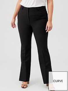 v-by-very-curve-kick-flare-split-hem-trousers-black