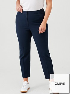 v-by-very-curve-elasticated-waistband-slim-trousers-navy