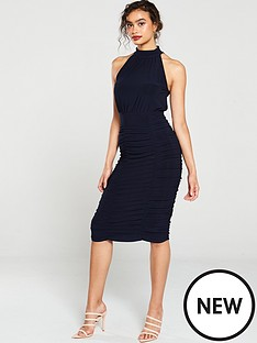 v-by-very-ruched-high-neck-midi
