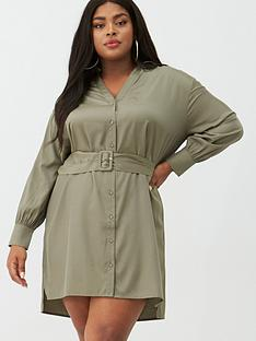 v-by-very-curve-belted-shirt-dress-khaki