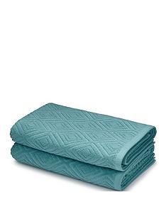 catherine-lansfield-diamond-sculptured-bath-towel-pair