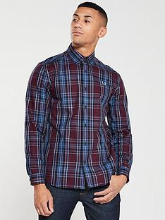 fred-perry-winter-tartan-shirt-maroonblue