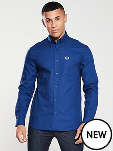 fred-perry-oxford-shirt-medieval-blue