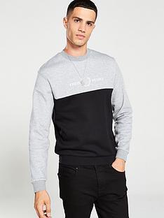 fred-perry-block-graphic-sweatshirt-steel-marl