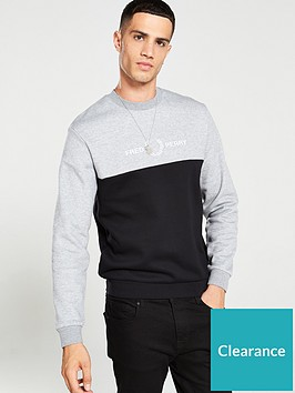 fred-perry-block-graphic-sweatshirt-steel-marl