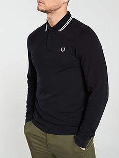 fred-perry-long-sleeved-twin-tipped-polo-shirt-black