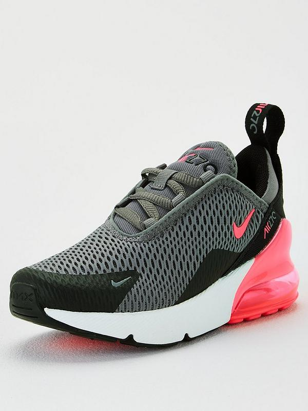 nike bianca & pink air max 270 knit trainers