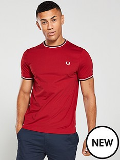 fred-perry-twin-tipped-t-shirt-red
