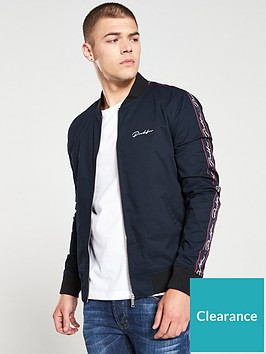 river-island-navy-prolific-muscle-fit-bomber-jacket