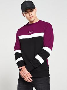 river-island-purple-prolific-block-slim-fit-sweatshirt