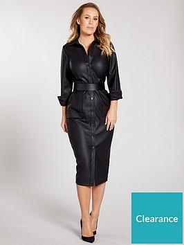 kate-wright-pu-shirt-midi-dress-blacknbsp