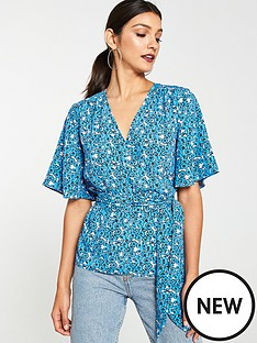 v-by-very-angel-sleeve-wrap-blouse-floral