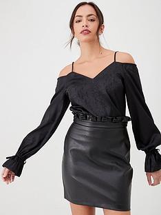 v-by-very-cold-shoulder-printed-blouse-black