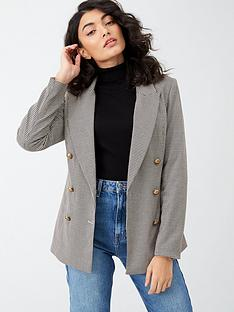 v-by-very-checked-blazer-brown