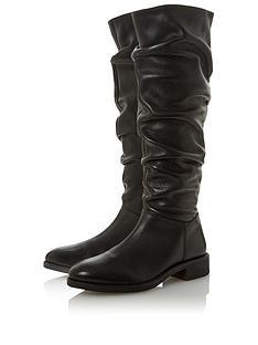 dune-london-tabatha-ruched-high-leg-boot