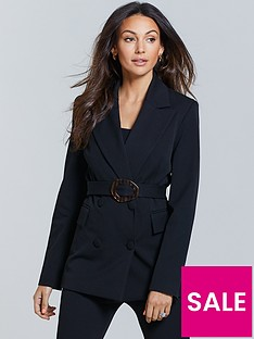 michelle-keegan-longline-belted-tailored-blazer-black