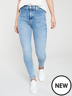 river-island-river-island-high-rise-disco-jeans-light-blue